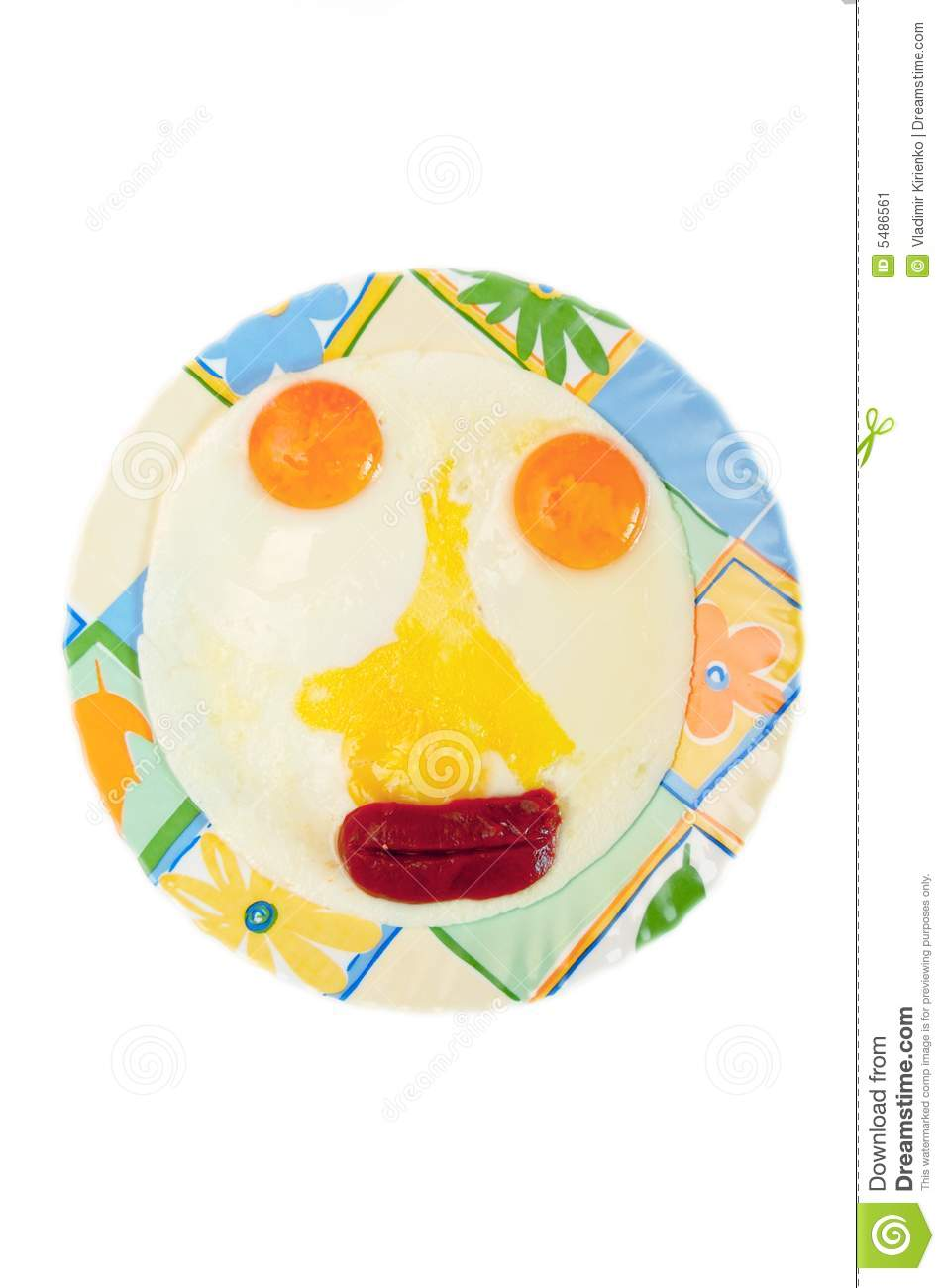Fun Physiognomy Of Fried Eggs Stock Image.