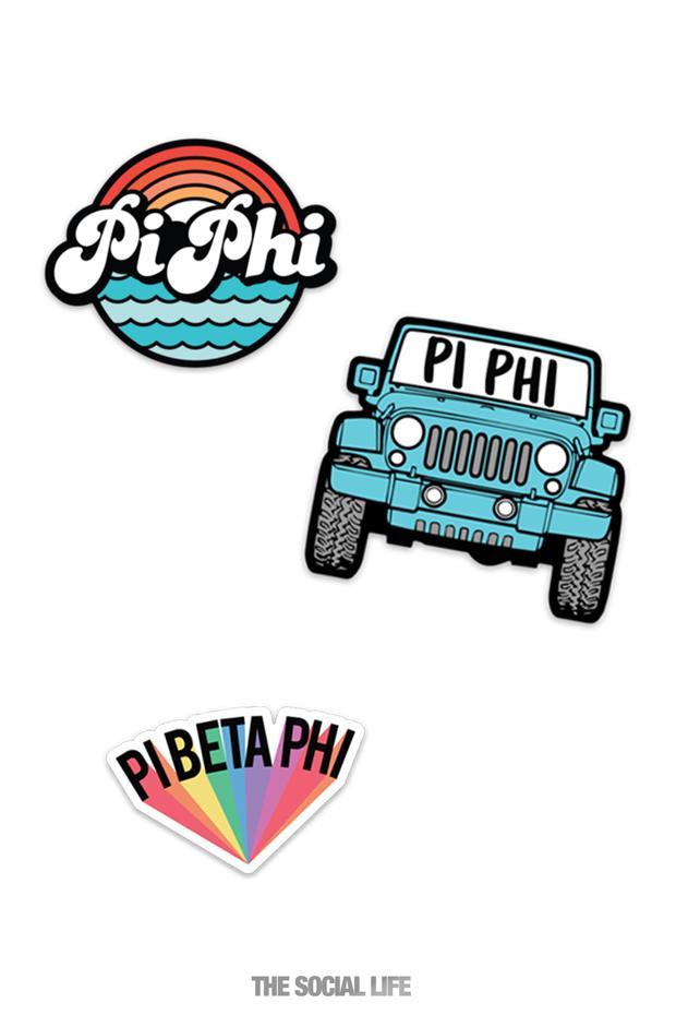 Pi Beta Phi Sticker.