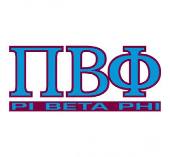 Pi Beta Phi Letters Over Name Decal.