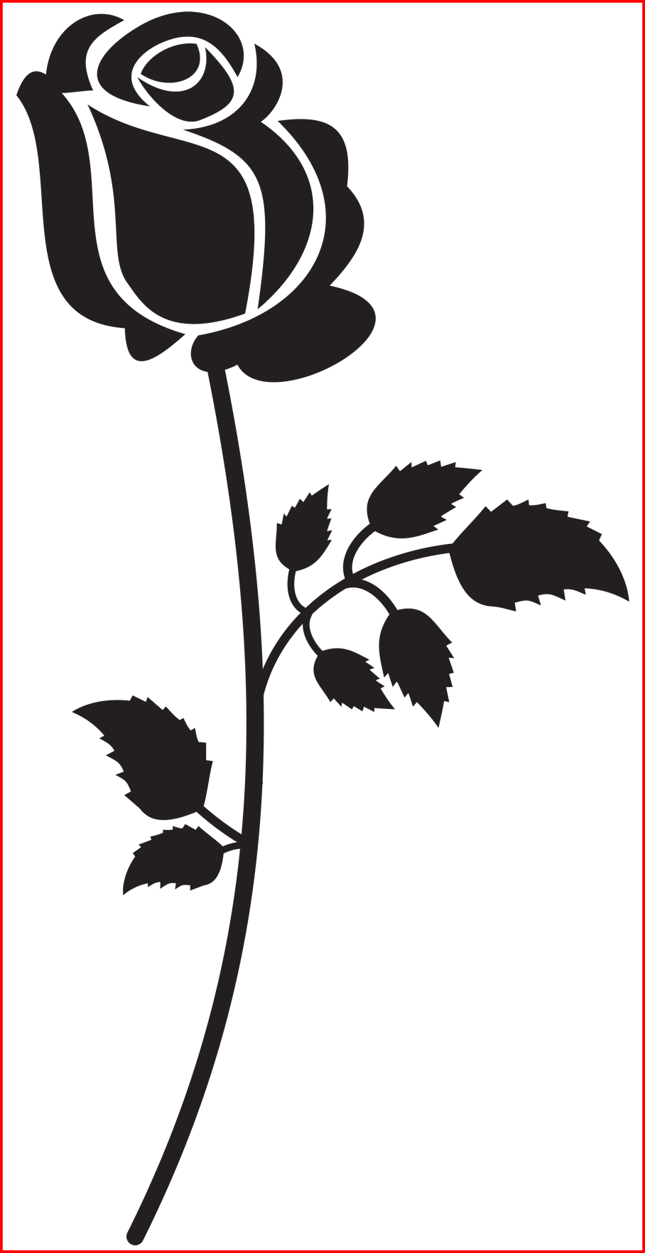 Graphic Stock Fascinating Rose Silhouette Png Clip.