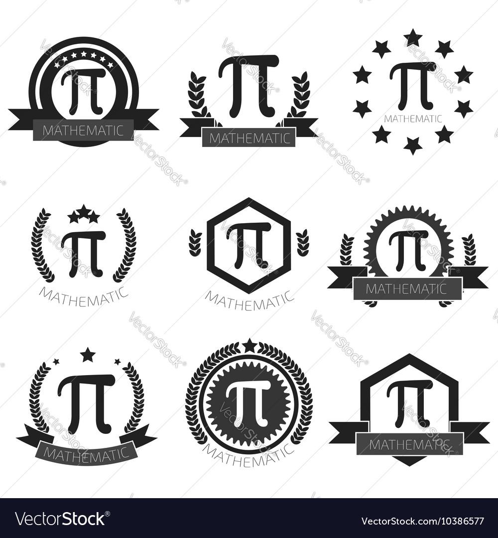 Mathematic Pi logo set Mathematic Pi icons set.