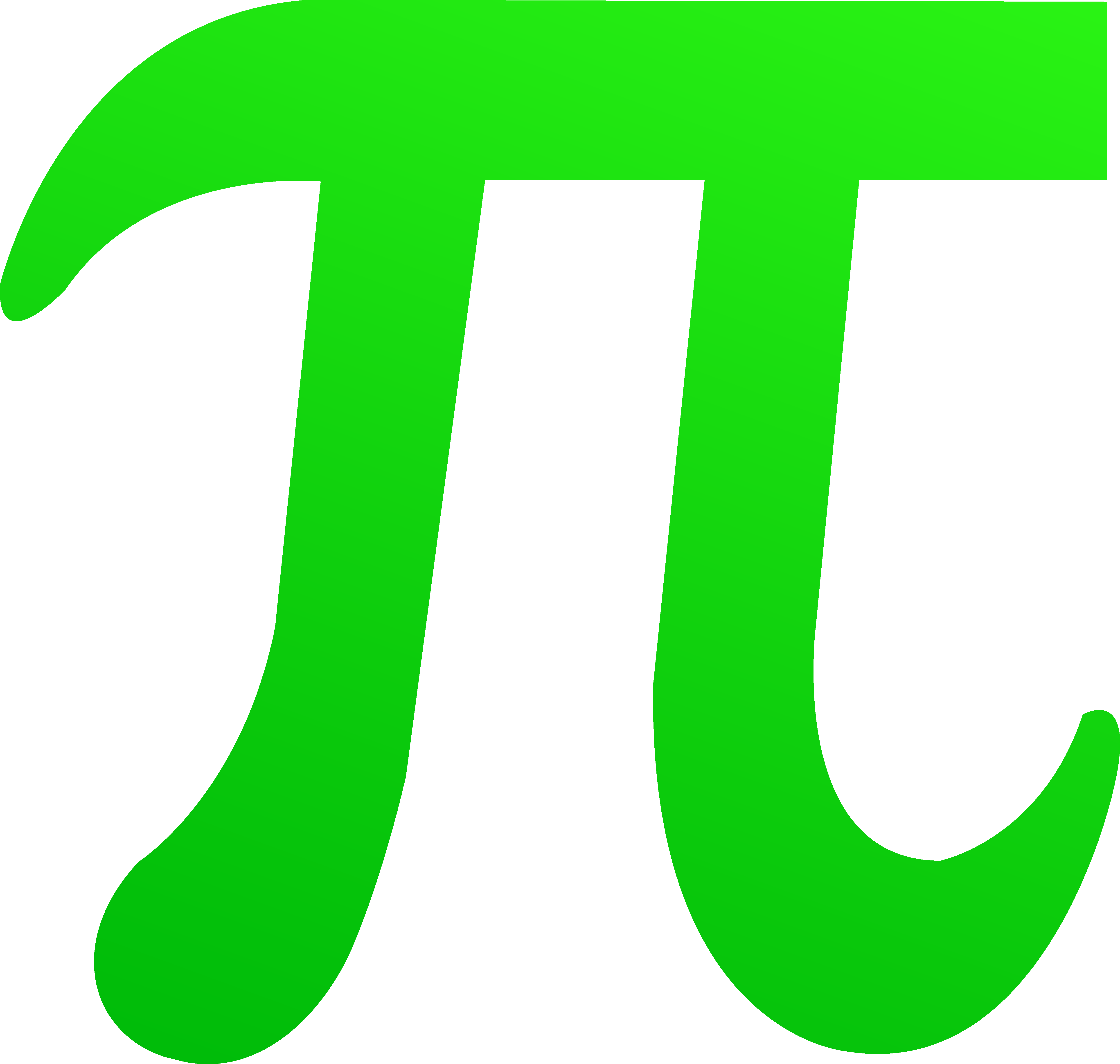 Green Pi Symbol Free clipart free image.