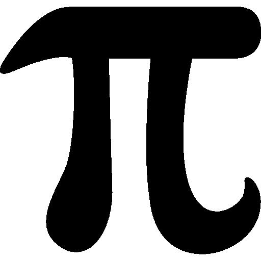 Pi mathematical constant symbol Icons.