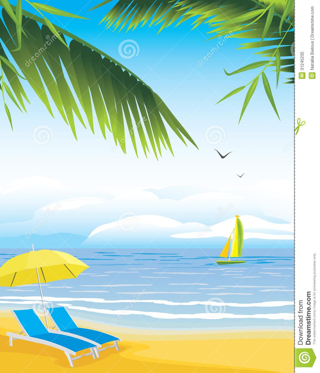 Clipart mare spiaggia.