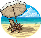 Beach Umbrella Clip Art.