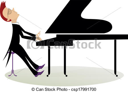 Pianist Clipart and Stock Illustrations. 814 Pianist vector EPS.