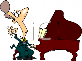 Royalty Free Clipart Image: Concert Pianist.