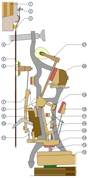 How the upright piano action works.