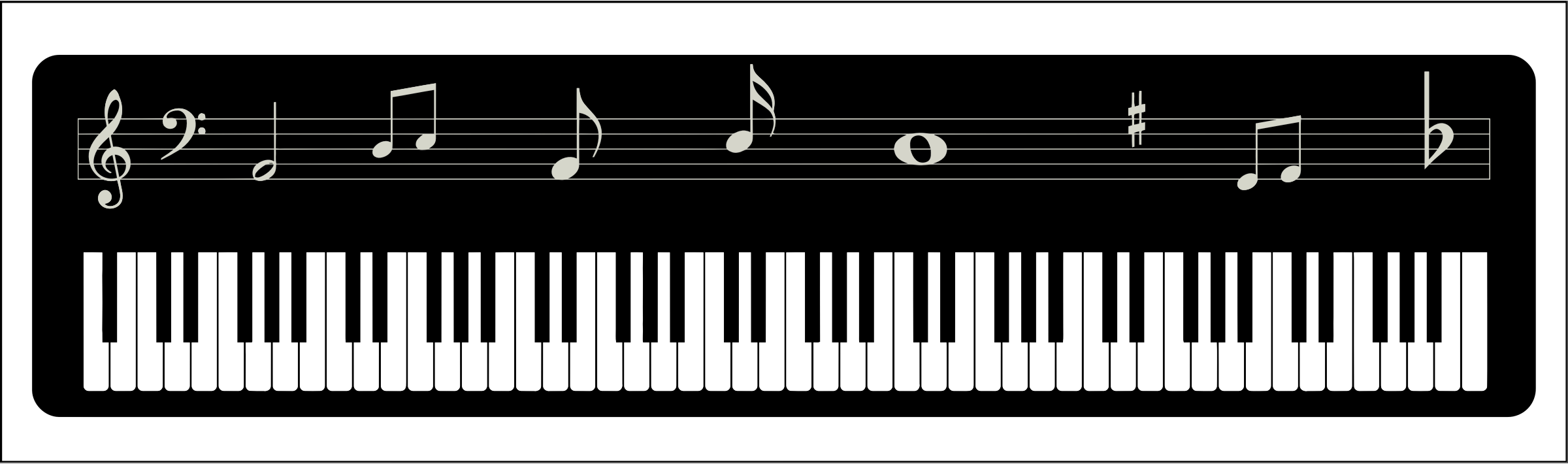 Clipart Piano Keyboard.