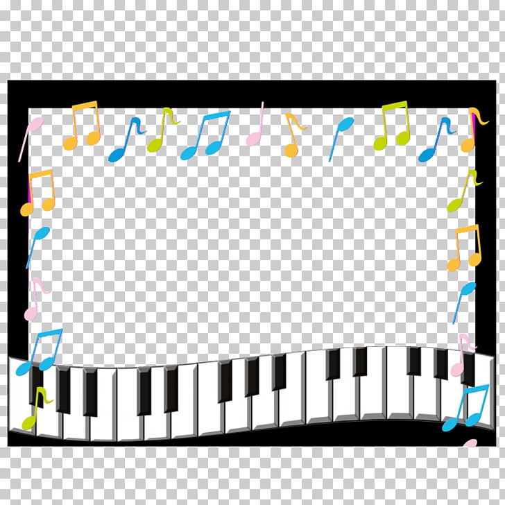 Musical note frame Photography, Piano Border Frame, piano.
