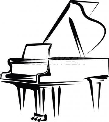 Music piano clipart 2.