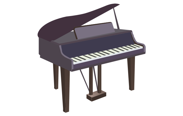 Grand piano Key Clip art.