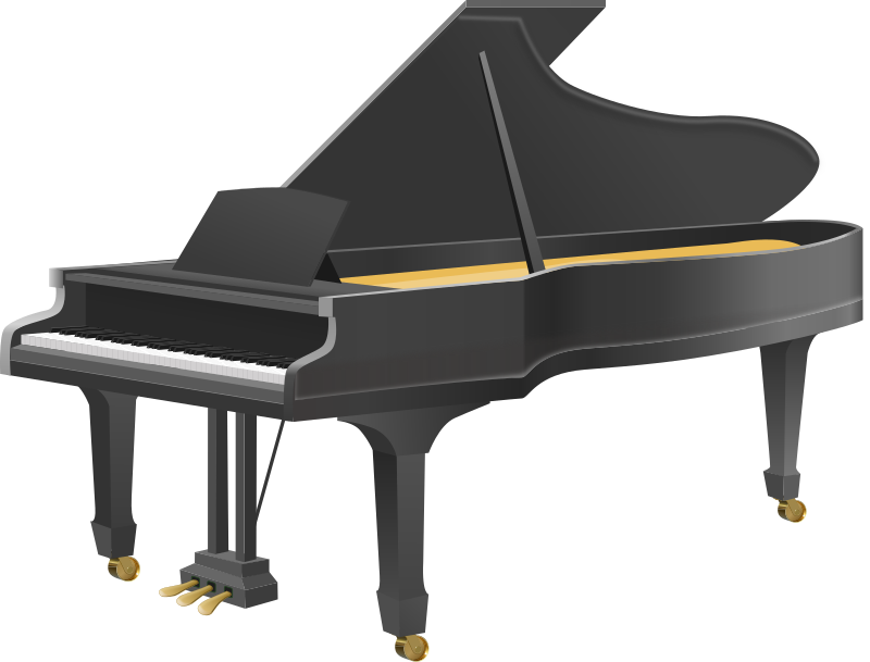 Download Grand Piano Clip Art PNG.