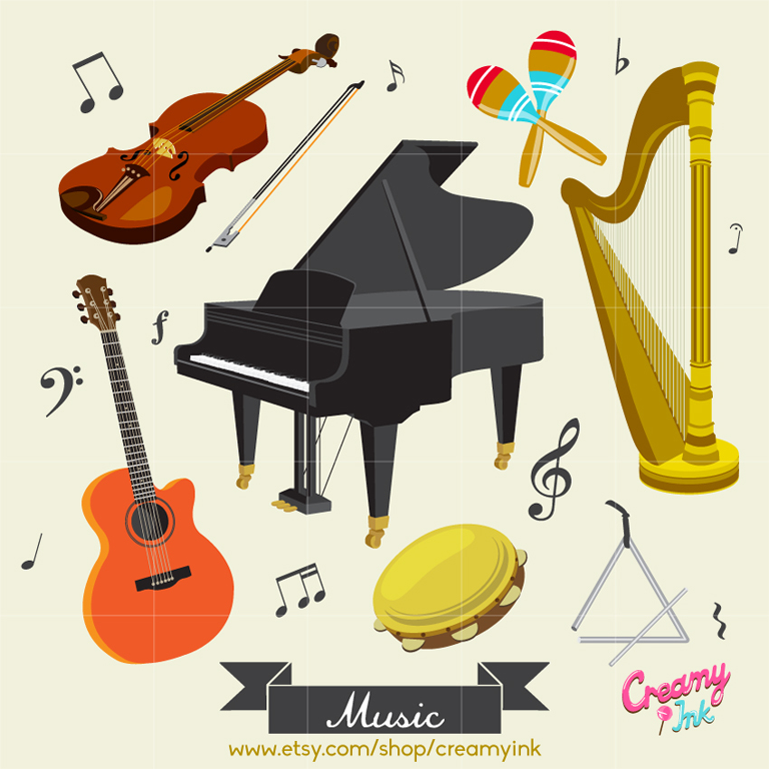 Music Instrument Digital Vector Clip art / Musical Instrument.