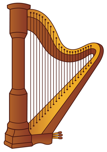 Harp PNG Clipart Picture.