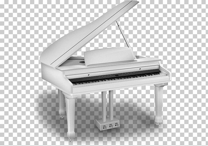 Synthesia Piano Computer Icons Music, White Piano Icon PNG.