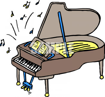 Piano and Music Notes Clipart Free.