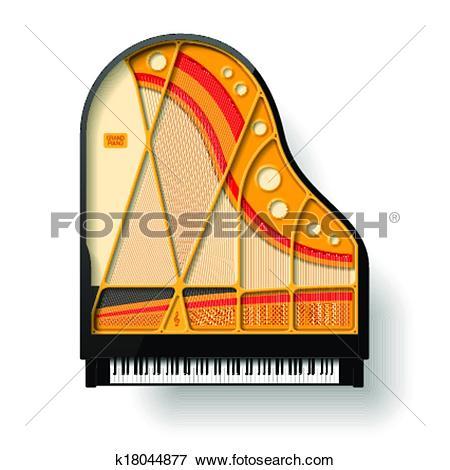 Clip Art of Grand piano interior k18044877.