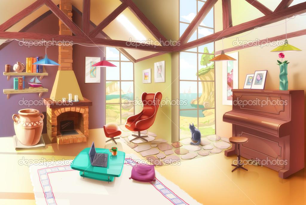 Light Living Room Interior — Stock Photo © Leks #26699645.