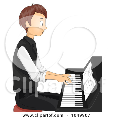 Teen Boy Playing A Piano Posters, Art Prints by BNP Design Studio.
