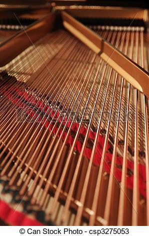 Stock Photos of grand piano interior.