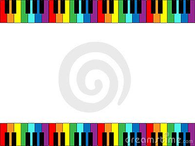 Piano Keyboard Border Stock Vector.
