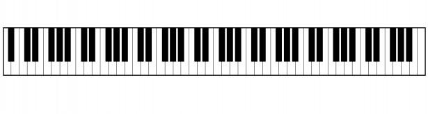 Piano Keyboard Border Clipart.