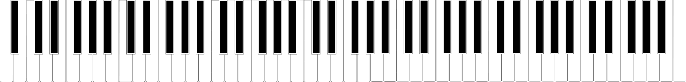 88 Piano Keyboard Clipart.