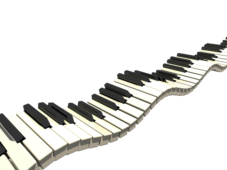 Piano keyboard clip art border.