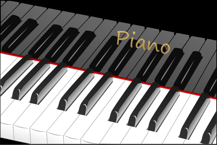 Piano keyboard clip art.