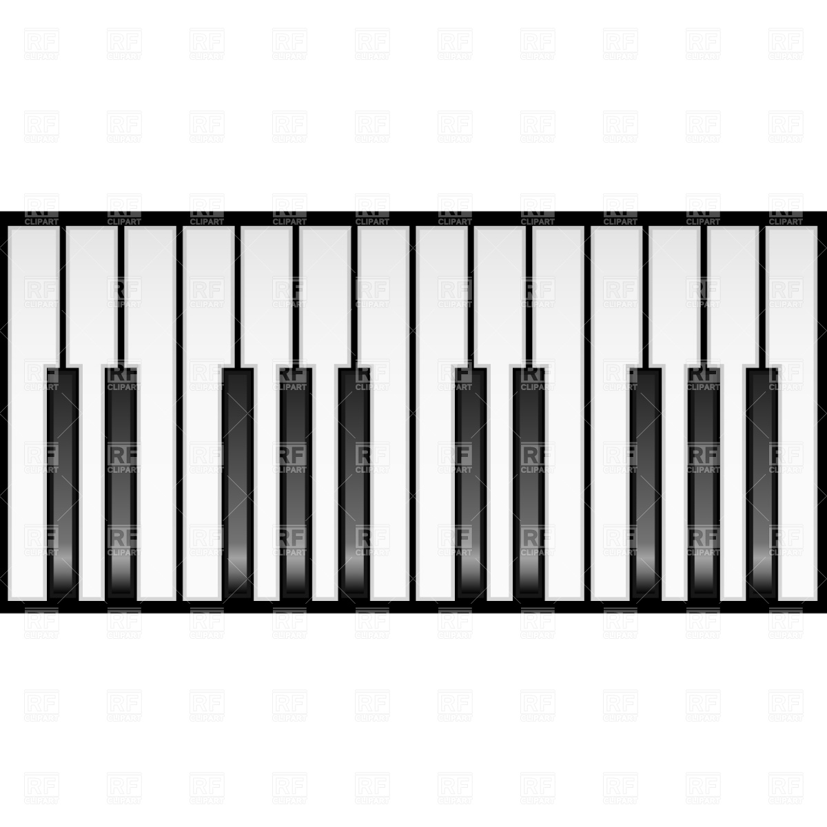 Piano Keyboard Clipart Black And White.