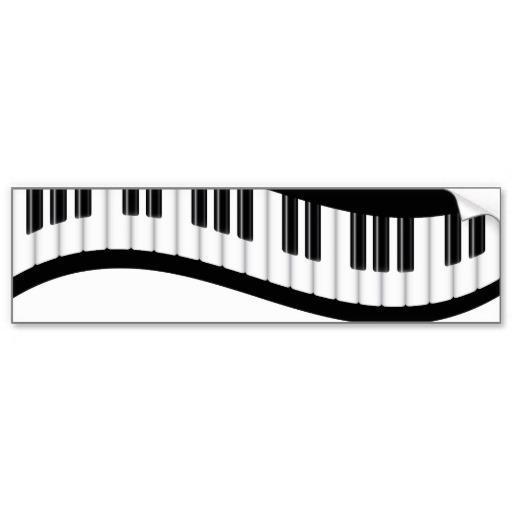 Wavy piano keys clipart.
