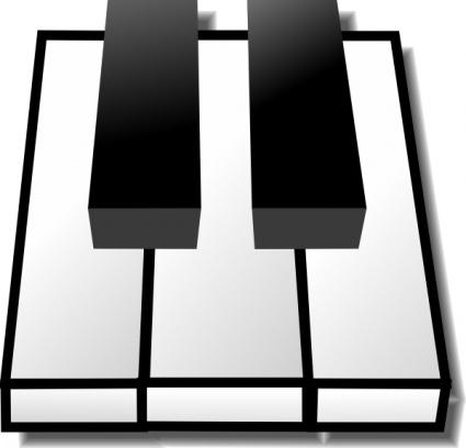 Wavy piano keys clipart free clipart images.