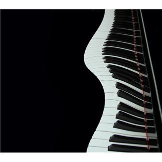 Piano keys in a wavy line clip art..