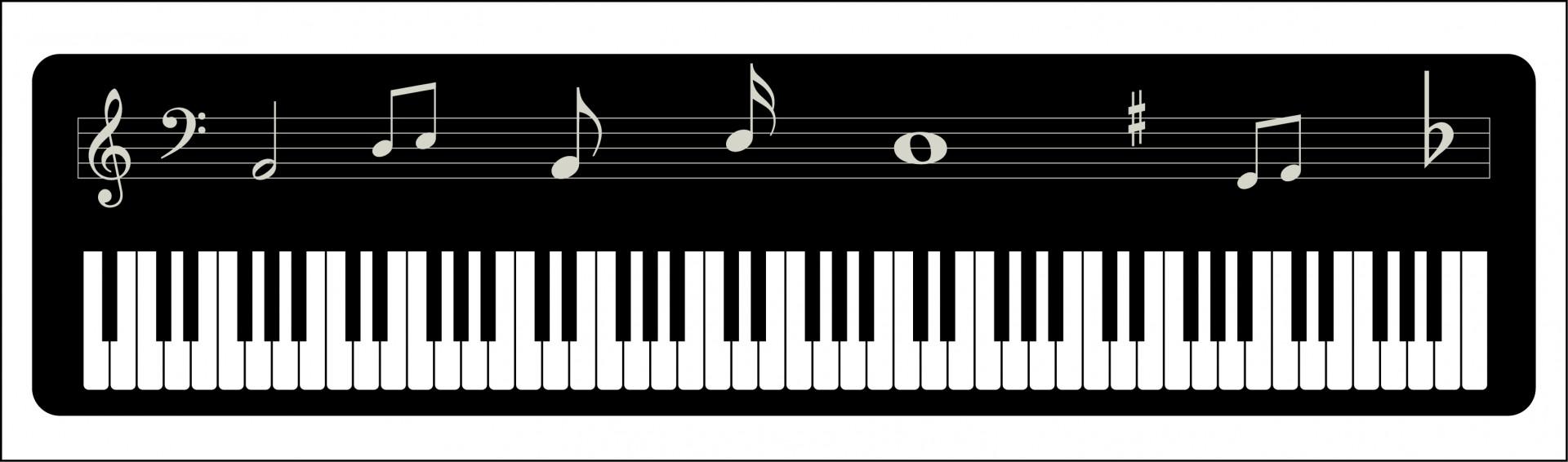 Piano Keyboard Musical Notes Free Stock Photo.