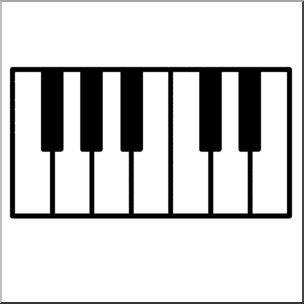 Piano keys clip art.