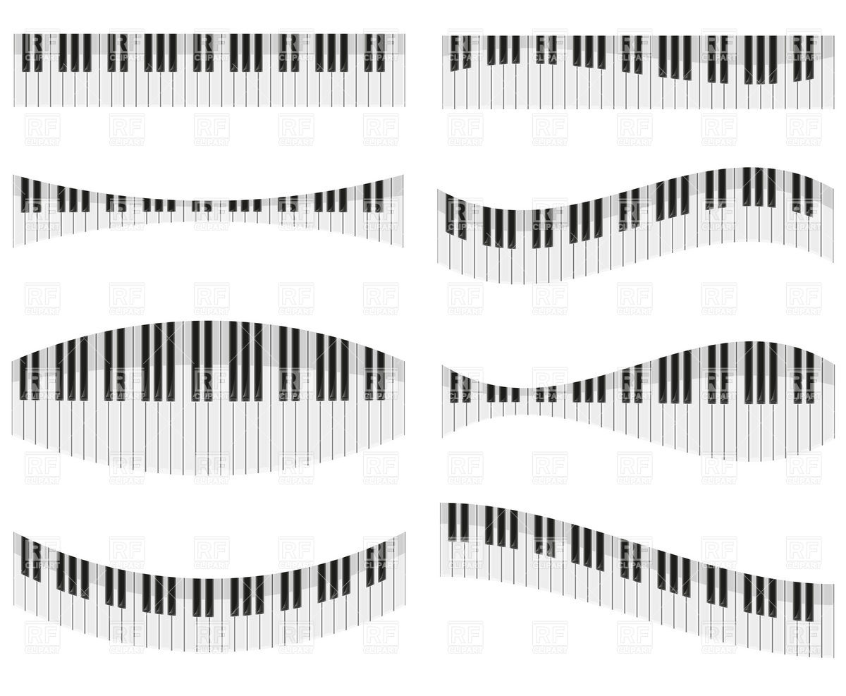 Piano keys clipart no royalty.