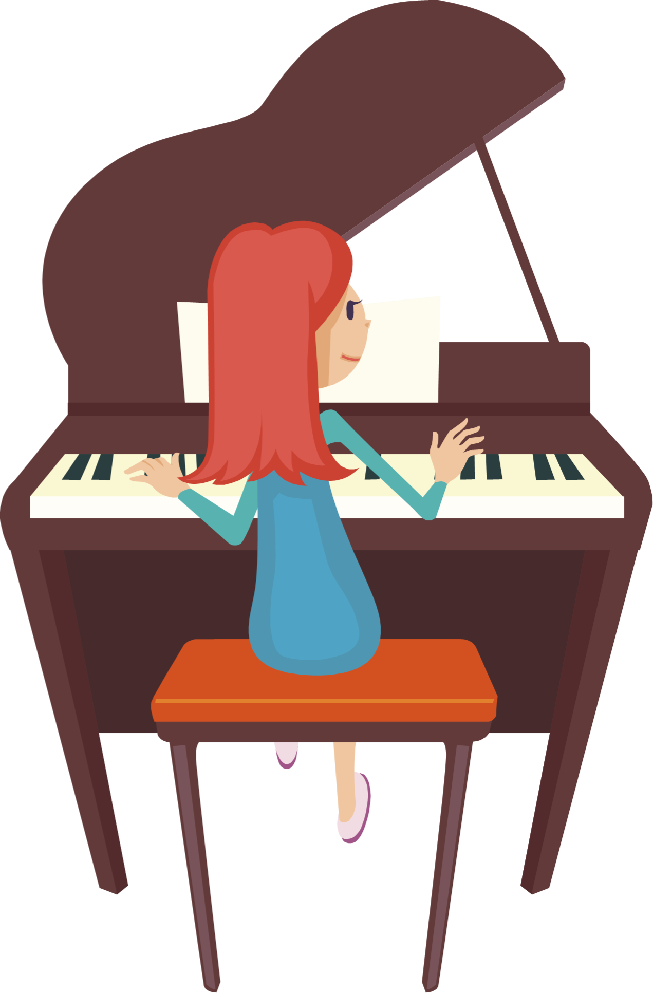 Piano lessons clipart.
