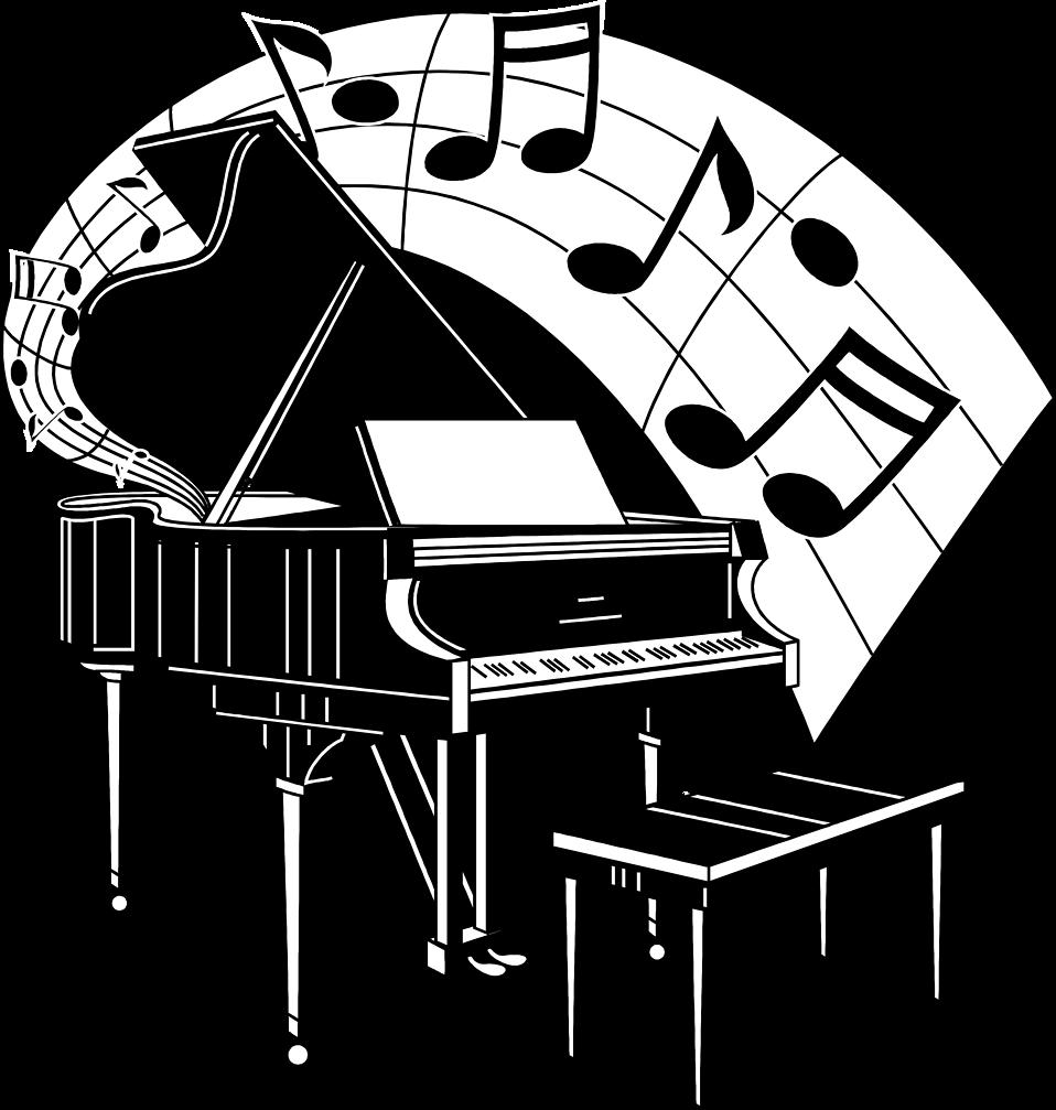Piano music clipart #20
