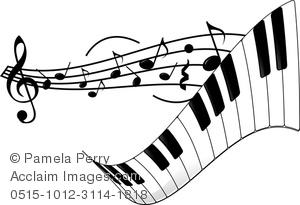 Piano music clipart #14