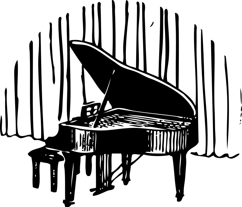 Piano Music Clipart Pictures Royalty Free.