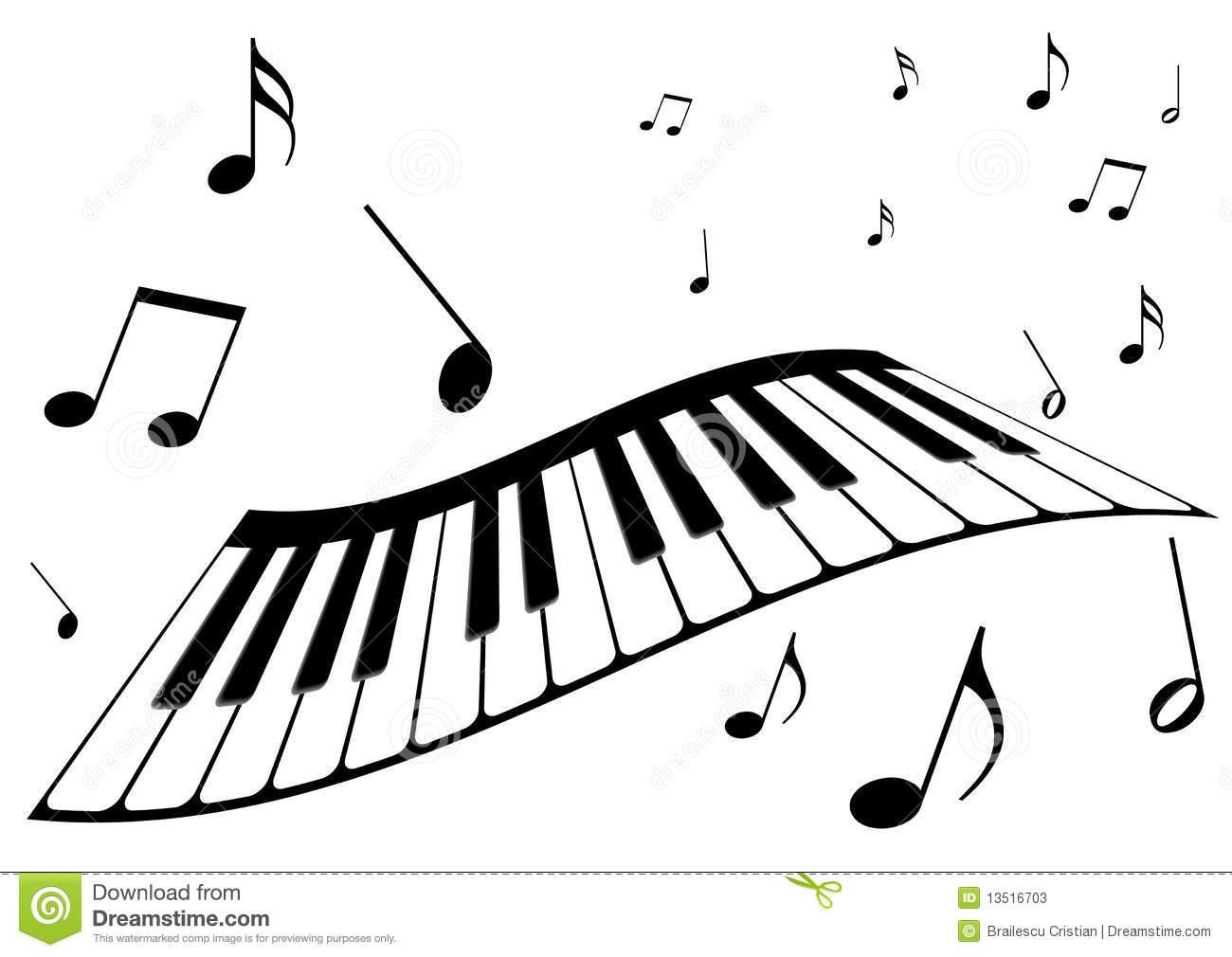 Piano music clipart #16