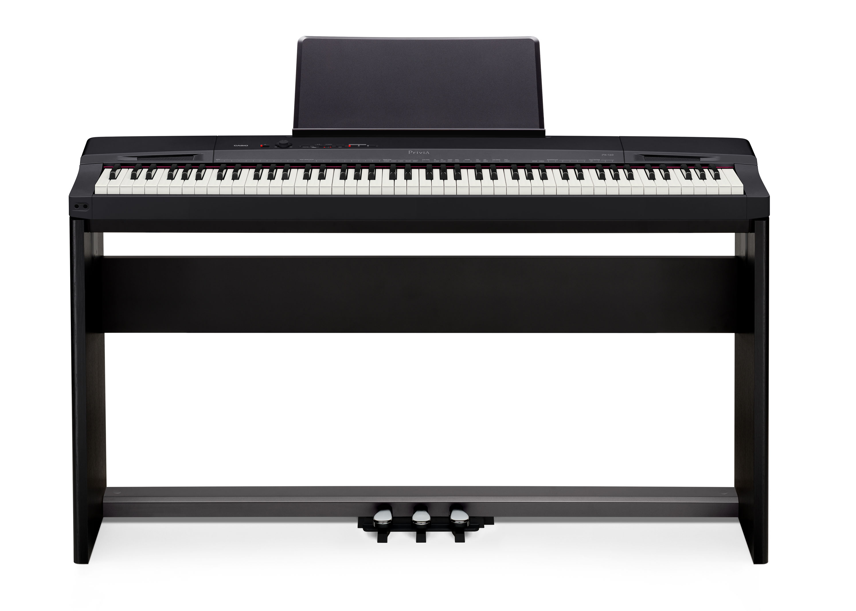 Casio PX160 Black Digital Electronic Piano Weighted 88 Keys Wooden.