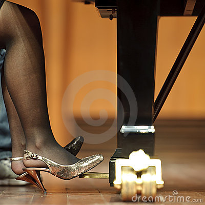 Pedal Of Piano On Concert Royalty Free Stock Photo.