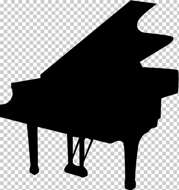 Piano Silhouette Pianist Violin, piano PNG clipart.