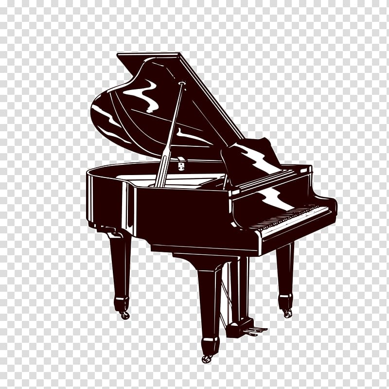 Piano Musical instrument Silhouette, piano transparent.