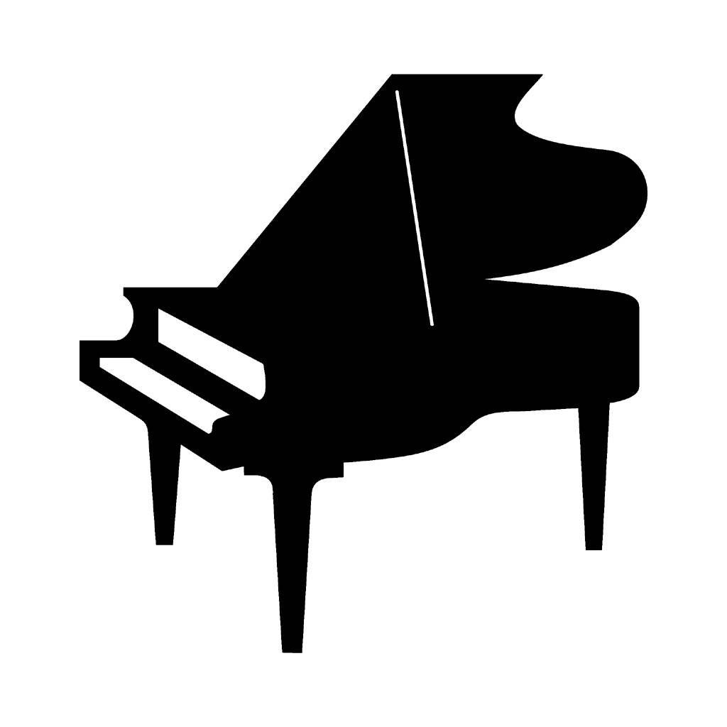 piano silhouette.