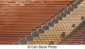Pictures of tuning piano strings.