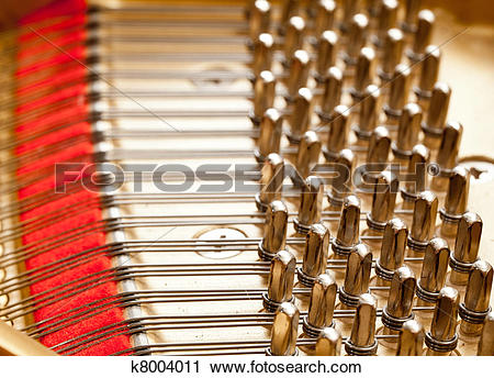 Stock Photography of Piano strings in macro k8004011.