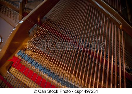 Stock Photo of piano strings.